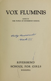 Page 3, 1933 Edition, Riverbend School for Girls - Vox Fluminis Yearbook (Winnipeg, Manitoba Canada) online yearbook collection