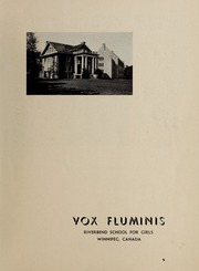 Page 3, 1948 Edition, Riverbend School for Girls - Vox Fluminis Yearbook (Winnipeg, Manitoba Canada) online yearbook collection
