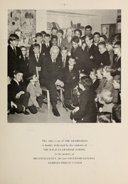 Page 7, 1967 Edition, Halifax Grammar School - Grammarian Yearbook (Halifax, Nova Scotia Canada) online yearbook collection