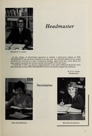 Page 5, 1971 Edition, Halifax Grammar School - Grammarian Yearbook (Halifax, Nova Scotia Canada) online yearbook collection