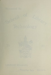 Page 3, 1970 Edition, Lakehead University School of Library Technology - Yearbook (Thunder Bay, Ontario Canada) online yearbook collection