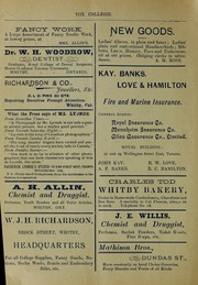 Page 2, 1902 Edition, Trafalgar Castle School - Yearbook (Whitby, Ontario Canada) online yearbook collection