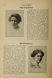 Page 14, 1912 Edition, Trafalgar Castle School - Yearbook (Whitby, Ontario Canada) online yearbook collection