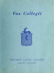 Page 1, 1958 Edition, Trafalgar Castle School - Yearbook (Whitby, Ontario Canada) online yearbook collection