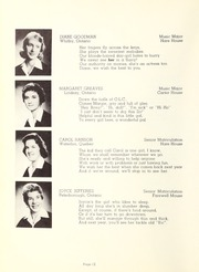 Page 14, 1958 Edition, Trafalgar Castle School - Yearbook (Whitby, Ontario Canada) online yearbook collection