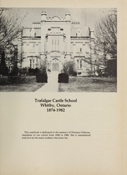 Page 5, 1982 Edition, Trafalgar Castle School - Yearbook (Whitby, Ontario Canada) online yearbook collection