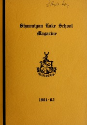 Page 1, 1962 Edition, Shawnigan Lake School - Yearbook (Shawnigan Lake, British Columbia Canada) online yearbook collection