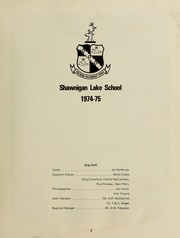 Page 7, 1975 Edition, Shawnigan Lake School - Yearbook (Shawnigan Lake, British Columbia Canada) online yearbook collection