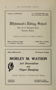 Page 14, 1923 Edition, Branksome Hall - Slogan Yearbook (Toronto, Ontario Canada) online yearbook collection