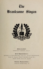 Page 17, 1923 Edition, Branksome Hall - Slogan Yearbook (Toronto, Ontario Canada) online yearbook collection