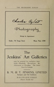 Page 4, 1923 Edition, Branksome Hall - Slogan Yearbook (Toronto, Ontario Canada) online yearbook collection