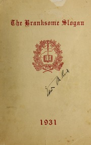 Page 1, 1931 Edition, Branksome Hall - Slogan Yearbook (Toronto, Ontario Canada) online yearbook collection
