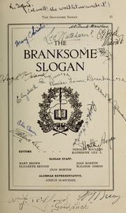 Page 17, 1931 Edition, Branksome Hall - Slogan Yearbook (Toronto, Ontario Canada) online yearbook collection