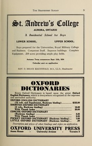 Page 11, 1934 Edition, Branksome Hall - Slogan Yearbook (Toronto, Ontario Canada) online yearbook collection