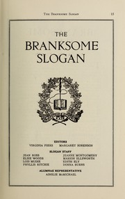 Page 17, 1934 Edition, Branksome Hall - Slogan Yearbook (Toronto, Ontario Canada) online yearbook collection