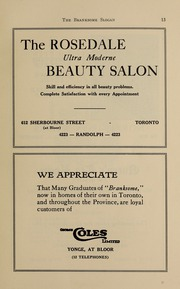 Page 15, 1938 Edition, Branksome Hall - Slogan Yearbook (Toronto, Ontario Canada) online yearbook collection