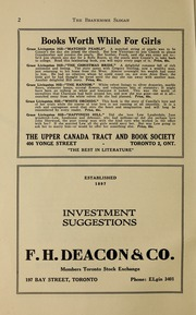 Page 4, 1938 Edition, Branksome Hall - Slogan Yearbook (Toronto, Ontario Canada) online yearbook collection