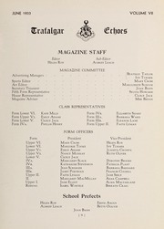 Page 11, 1933 Edition, Trafalgar School - Echoes Yearbook (Montreal, Quebec Canada) online yearbook collection