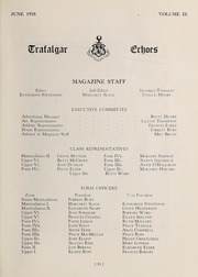 Page 13, 1935 Edition, Trafalgar School - Echoes Yearbook (Montreal, Quebec Canada) online yearbook collection