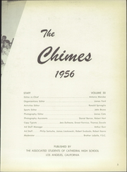 Page 7, 1956 Edition, Cathedral High School - Chimes Yearbook (Los Angeles, CA) online yearbook collection