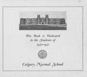 Page 3, 1931 Edition, Calgary Normal School - Chinook Yearbook (Calgary, Alberta Canada) online yearbook collection