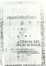 Page 5, 1985 Edition, Verbum Dei High School - Verbum Dei Yearbook (Los Angeles, CA) online yearbook collection