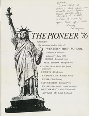 Page 5, 1976 Edition, Western High School - Pioneer Yearbook (Anaheim, CA) online yearbook collection