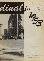 Page 7, 1953 Edition, Covina High School - Cardinal Yearbook (Covina, CA) online yearbook collection