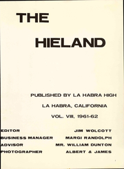 Page 7, 1962 Edition, La Habra High School - Hieland Yearbook (La Habra, CA) online yearbook collection