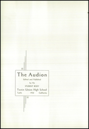 Page 6, 1932 Edition, Tustin High School - Audion Yearbook (Tustin, CA) online yearbook collection
