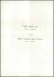 Page 6, 1933 Edition, Tustin High School - Audion Yearbook (Tustin, CA) online yearbook collection