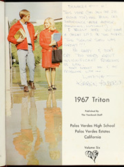 Page 5, 1967 Edition, Palos Verdes High School - Triton Yearbook (Palos Verdes Estates, CA) online yearbook collection
