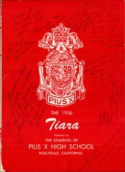 Page 5, 1956 Edition, Pius X High School - Tiara Yearbook (Downey, CA) online yearbook collection