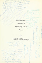 Page 9, 1938 Edition, Chino High School - El Chasqui Yearbook (Chino, CA) online yearbook collection