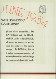 Page 7, 1934 Edition, Balboa High School - Galleon Yearbook (San Francisco, CA) online yearbook collection
