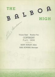 Page 6, 1936 Edition, Balboa High School - Galleon Yearbook (San Francisco, CA) online yearbook collection