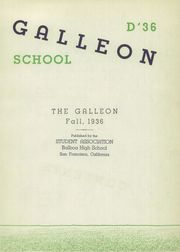 Page 7, 1936 Edition, Balboa High School - Galleon Yearbook (San Francisco, CA) online yearbook collection