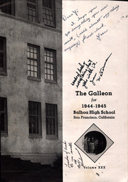 Page 7, 1945 Edition, Balboa High School - Galleon Yearbook (San Francisco, CA) online yearbook collection