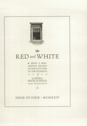 Page 7, 1924 Edition, Lowell High School - Red and White Yearbook (San Francisco, CA) online yearbook collection