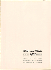 Page 7, 1951 Edition, Lowell High School - Red and White Yearbook (San Francisco, CA) online yearbook collection