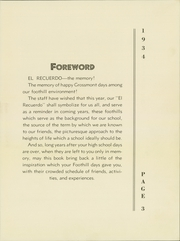 Page 7, 1934 Edition, Grossmont High School - El Recuerdo Yearbook (El Cajon, CA) online yearbook collection