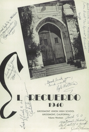 Page 5, 1940 Edition, Grossmont High School - El Recuerdo Yearbook (El Cajon, CA) online yearbook collection