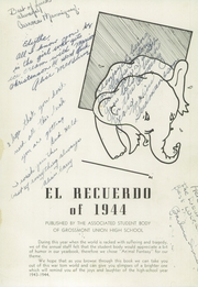 Page 5, 1944 Edition, Grossmont High School - El Recuerdo Yearbook (El Cajon, CA) online yearbook collection
