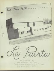 Page 5, 1950 Edition, Caruthers Union High School - La Puerta Yearbook (Caruthers, CA) online yearbook collection