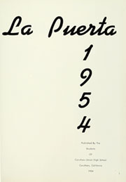 Page 5, 1954 Edition, Caruthers Union High School - La Puerta Yearbook (Caruthers, CA) online yearbook collection