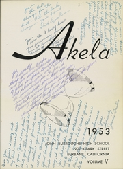Page 5, 1953 Edition, John Burroughs High School - Akela Yearbook (Burbank, CA) online yearbook collection