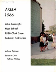 Page 8, 1966 Edition, John Burroughs High School - Akela Yearbook (Burbank, CA) online yearbook collection