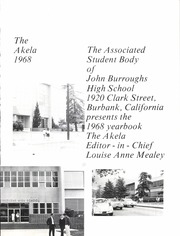 Page 7, 1968 Edition, John Burroughs High School - Akela Yearbook (Burbank, CA) online yearbook collection