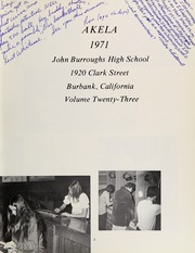 Page 7, 1971 Edition, John Burroughs High School - Akela Yearbook (Burbank, CA) online yearbook collection