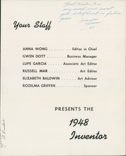 Page 7, 1948 Edition, Edison High School - Inventor Yearbook (Fresno, CA) online yearbook collection